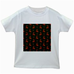 Paisley Pattern Kids White T Shirts