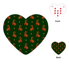 Paisley Pattern Playing Cards (heart)