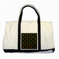 Paisley Pattern Two Tone Tote Bag