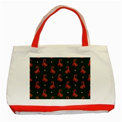Paisley Pattern Classic Tote Bag (Red)