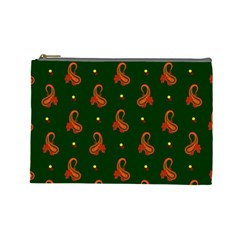 Paisley Pattern Cosmetic Bag (Large)