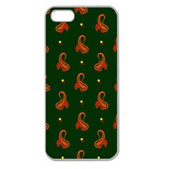 Paisley Pattern Apple Seamless Iphone 5 Case (clear)