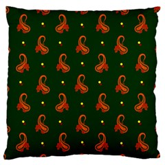 Paisley Pattern Standard Flano Cushion Case (two Sides)