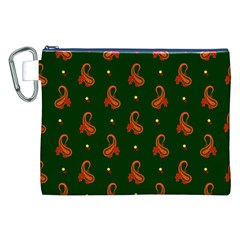 Paisley Pattern Canvas Cosmetic Bag (XXL)