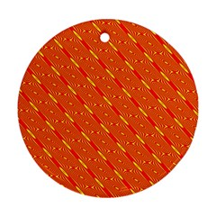 Orange Pattern Background Ornament (Round)