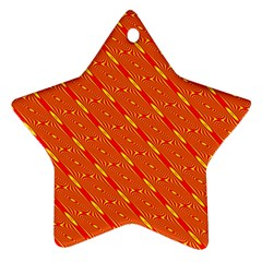 Orange Pattern Background Ornament (Star)