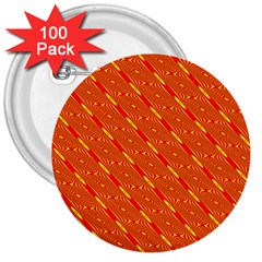 Orange Pattern Background 3  Buttons (100 pack)