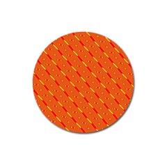 Orange Pattern Background Magnet 3  (Round)
