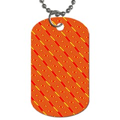 Orange Pattern Background Dog Tag (Two Sides)