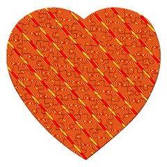 Orange Pattern Background Jigsaw Puzzle (heart)