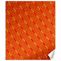 Orange Pattern Background Canvas 20  x 24