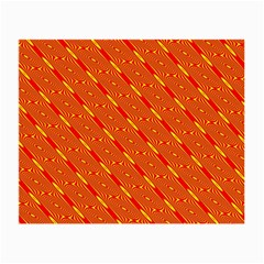 Orange Pattern Background Small Glasses Cloth (2-Side)