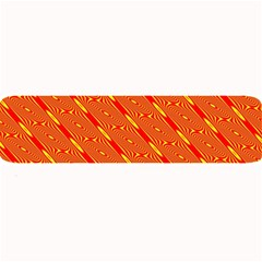 Orange Pattern Background Large Bar Mats