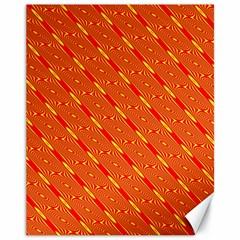 Orange Pattern Background Canvas 11  x 14