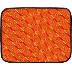 Orange Pattern Background Double Sided Fleece Blanket (Mini)