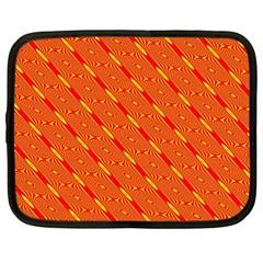 Orange Pattern Background Netbook Case (XXL)