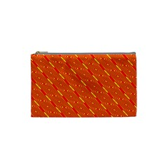 Orange Pattern Background Cosmetic Bag (Small)