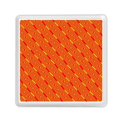 Orange Pattern Background Memory Card Reader (Square)