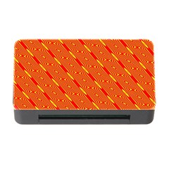 Orange Pattern Background Memory Card Reader with CF