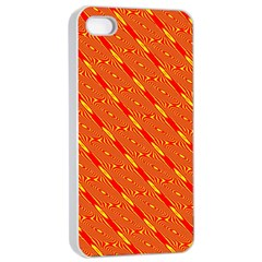 Orange Pattern Background Apple Iphone 4/4s Seamless Case (white)