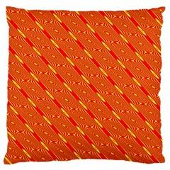 Orange Pattern Background Large Cushion Case (One Side)