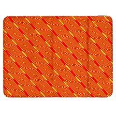 Orange Pattern Background Samsung Galaxy Tab 7  P1000 Flip Case