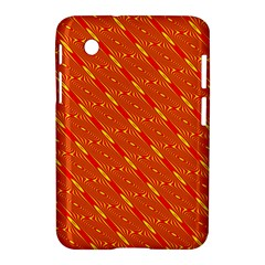 Orange Pattern Background Samsung Galaxy Tab 2 (7 ) P3100 Hardshell Case
