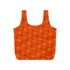 Orange Pattern Background Full Print Recycle Bags (s)
