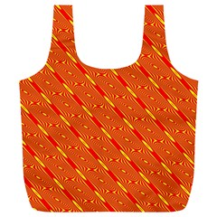 Orange Pattern Background Full Print Recycle Bags (l)