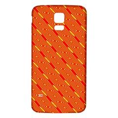 Orange Pattern Background Samsung Galaxy S5 Back Case (white)
