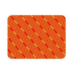 Orange Pattern Background Double Sided Flano Blanket (Mini)