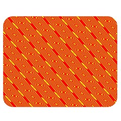 Orange Pattern Background Double Sided Flano Blanket (medium)