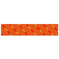 Orange Pattern Background Flano Scarf (Small)