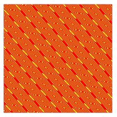 Orange Pattern Background Large Satin Scarf (Square)