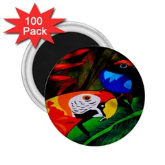 Papgei Red Bird Animal World Towel 2.25  Magnets (100 pack)