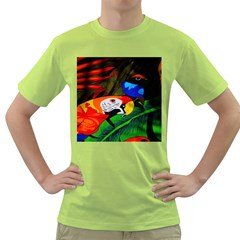 Papgei Red Bird Animal World Towel Green T-Shirt