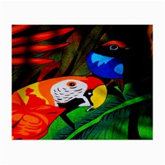 Papgei Red Bird Animal World Towel Small Glasses Cloth (2-Side)