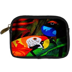 Papgei Red Bird Animal World Towel Digital Camera Cases