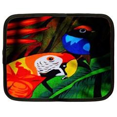 Papgei Red Bird Animal World Towel Netbook Case (xl)