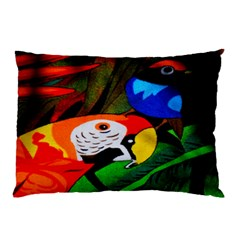 Papgei Red Bird Animal World Towel Pillow Case (Two Sides)