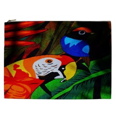 Papgei Red Bird Animal World Towel Cosmetic Bag (xxl)