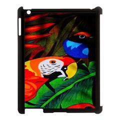 Papgei Red Bird Animal World Towel Apple Ipad 3/4 Case (black)
