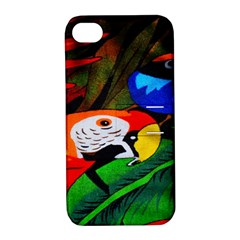 Papgei Red Bird Animal World Towel Apple iPhone 4/4S Hardshell Case with Stand