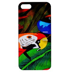 Papgei Red Bird Animal World Towel Apple iPhone 5 Hardshell Case with Stand
