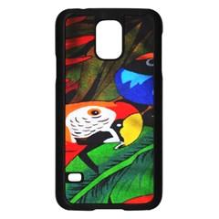 Papgei Red Bird Animal World Towel Samsung Galaxy S5 Case (black)