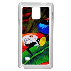 Papgei Red Bird Animal World Towel Samsung Galaxy Note 4 Case (white)