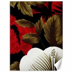 Paradis Tropical Fabric Background In Red And White Flora Canvas 36  x 48