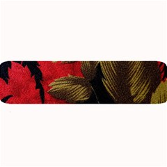 Paradis Tropical Fabric Background In Red And White Flora Large Bar Mats