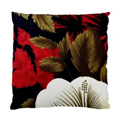 Paradis Tropical Fabric Background In Red And White Flora Standard Cushion Case (Two Sides)