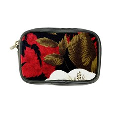 Paradis Tropical Fabric Background In Red And White Flora Coin Purse